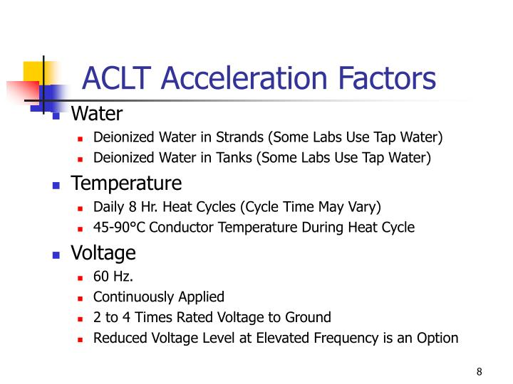 ACLT Acceleration Factors