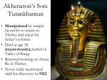 akhenaton s son tutankhamun