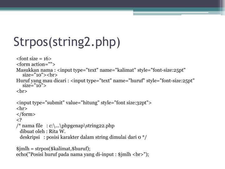 Strpos(string2.php)