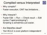 compiled versus interpreted