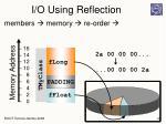 i o using reflection