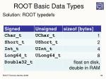 root basic data types