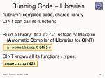 running code libraries