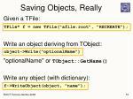 saving objects really