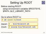 setting up root
