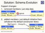 solution schema evolution