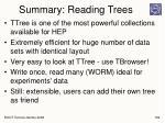 summary reading trees