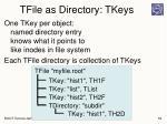 tfile as directory tkeys