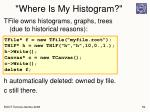 where is my histogram