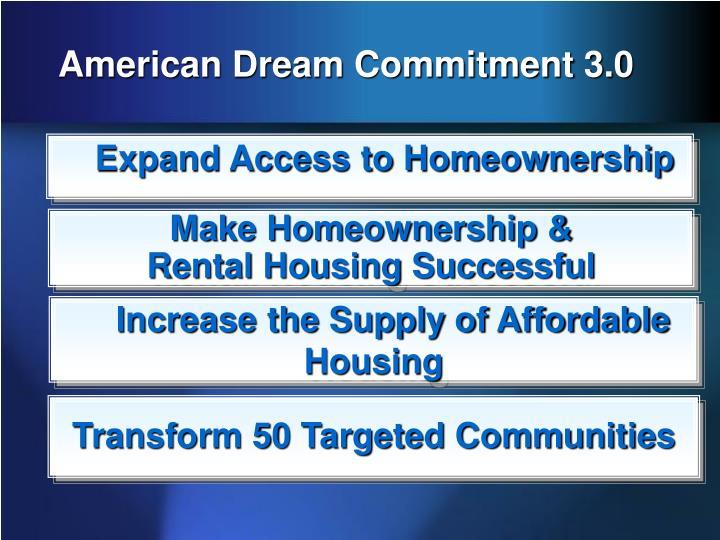American Dream Commitment 3.0