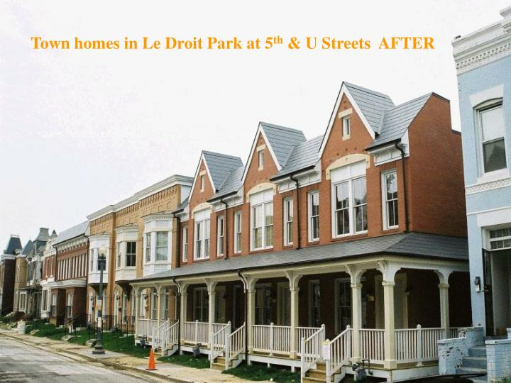 Town homes in Le Droit Park at 5
