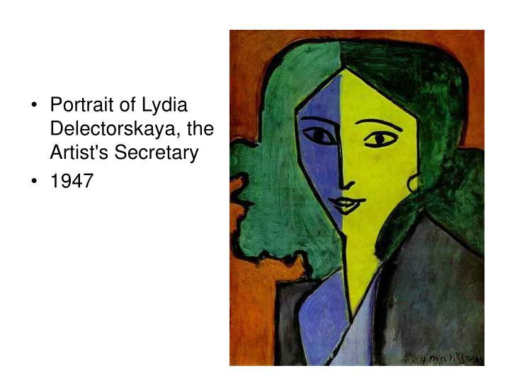 Portrait of Lydia Delectorskaya, the Artist's Secretary