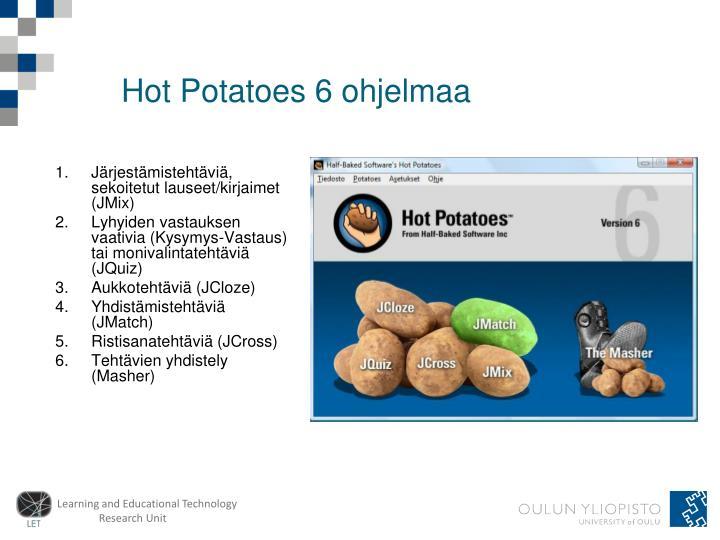 Hot potatoes 6 ohjelmaa