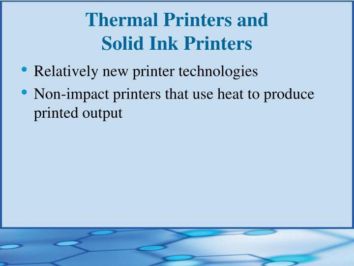 Thermal Printers and