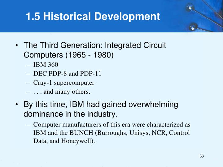 The Third Generation: Integrated Circuit Computers (1965 - 1980)