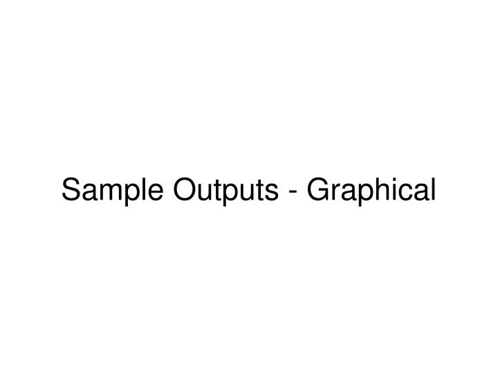 Sample Outputs - Graphical