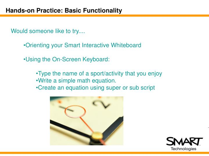 Hands-on Practice: Basic Functionality