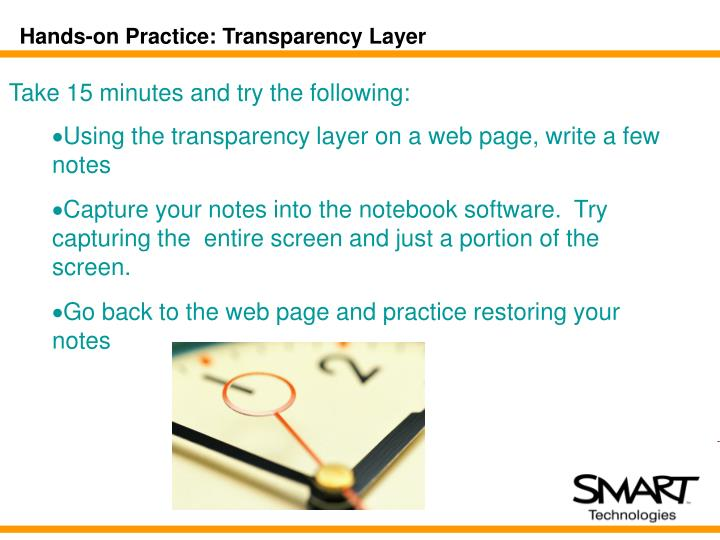 Hands-on Practice: Transparency Layer