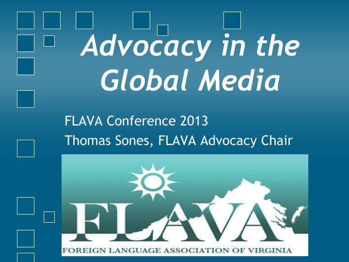 advocacy in the global media n.