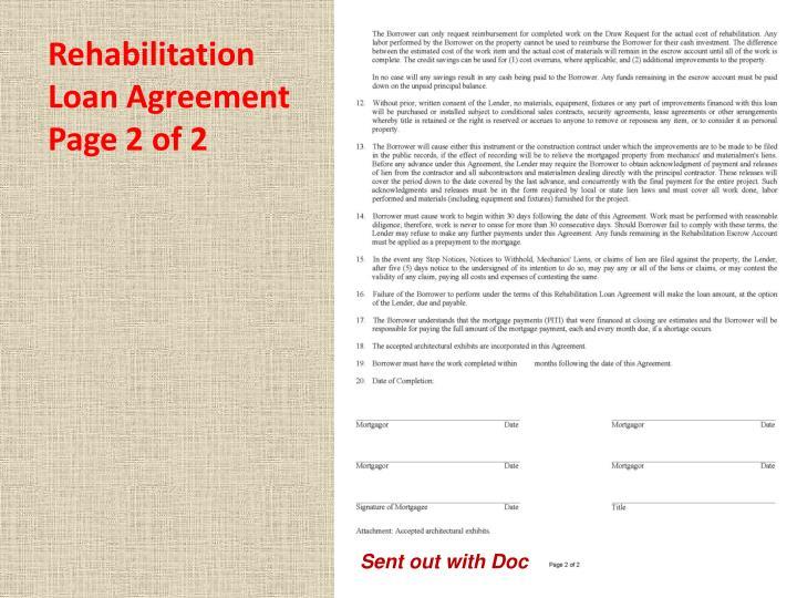 Rehabilitation Loan Agreement