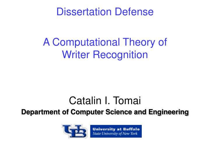 a computational theory of writer recognition n.