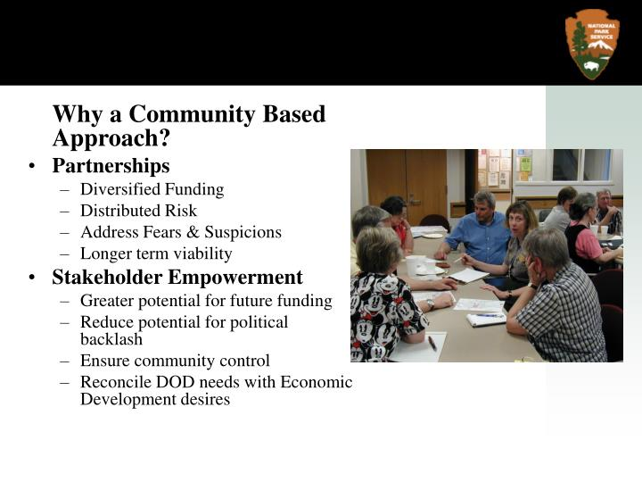 Why a Community Based Approach?