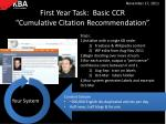 first year task basic ccr cumulative citation recommendation