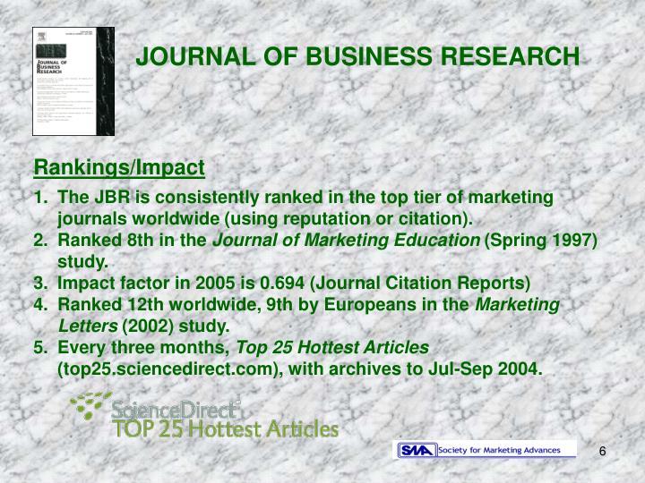 Rankings/Impact ...