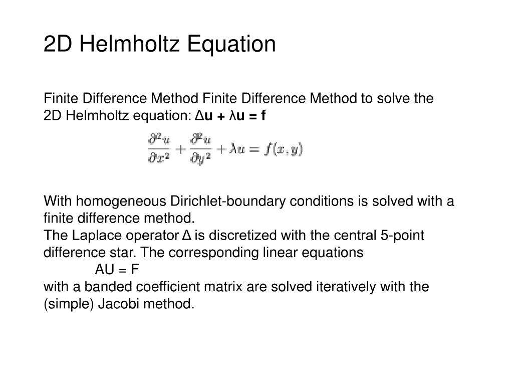 Finite difference method laplace