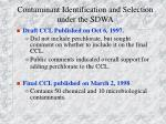contaminant identification and selection under the sdwa2