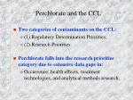 perchlorate and the ccl