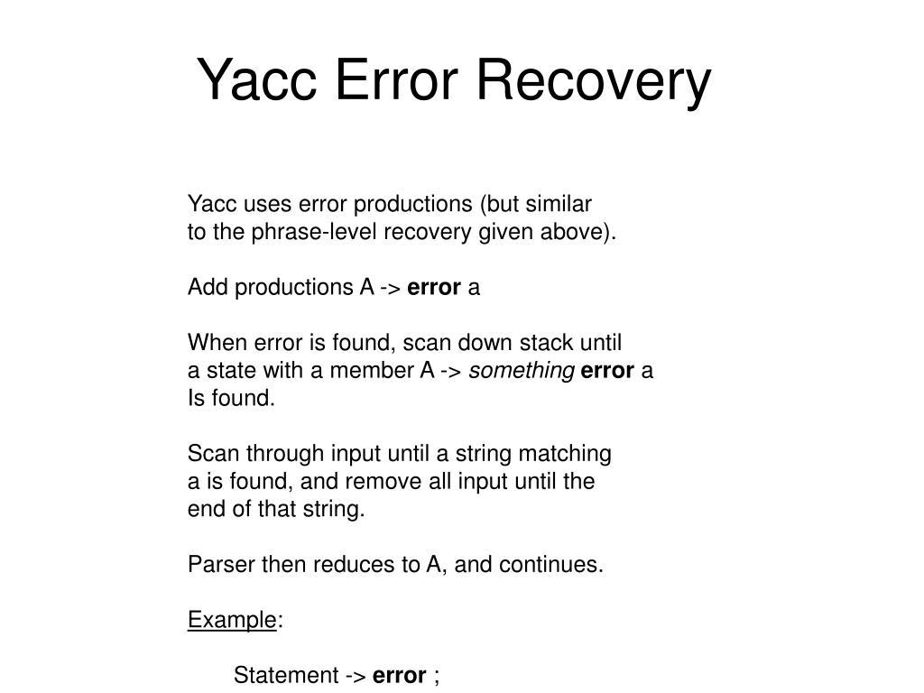 Ppt Error Handling Powerpoint Presentation Free Download Id