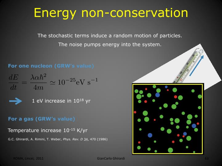 Energy non-conservation