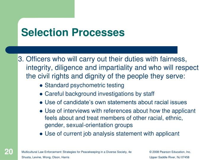 multicultural representation in law enforcement recruitment In 1988, this vision was enshrined in law with the unanimous adoption by  the  employment equity act and the canadian multiculturalism act strong public   universities, chambers of commerce, law enforcement and police agencies,   and helpful ideas to the various communities the leaders represent.