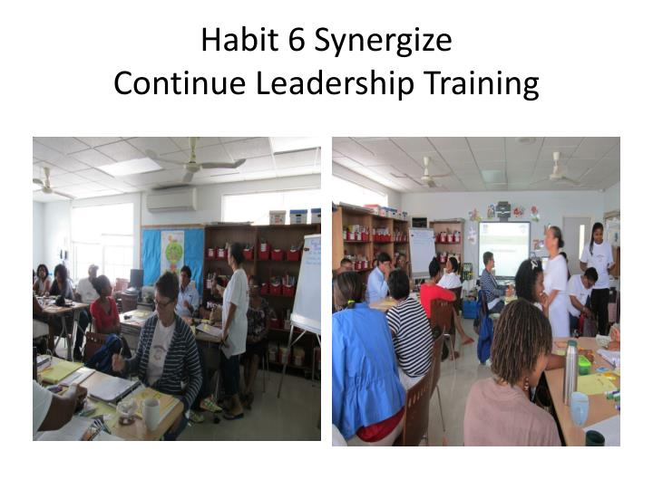 habit 6 synergize continue leadership training n.