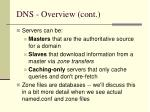 dns overview cont