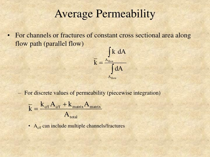 Average Permeability