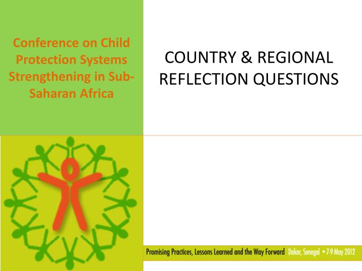 country regional reflection questions n.