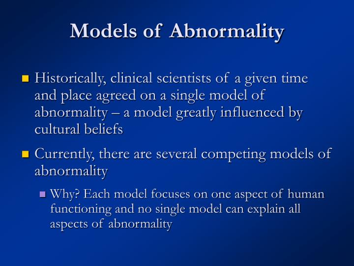 Models of abnormality1