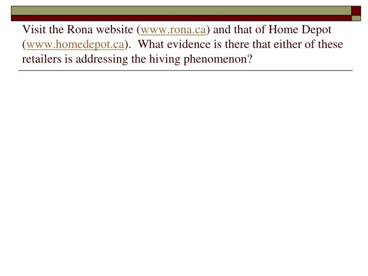 Visit the Rona website (