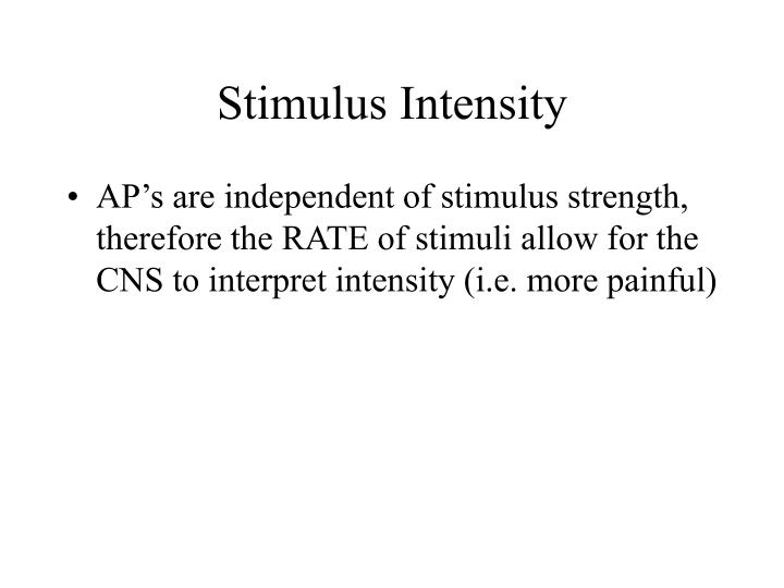 Stimulus Intensity
