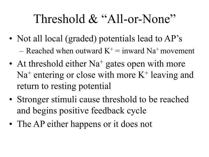"Threshold & ""All-or-None"""
