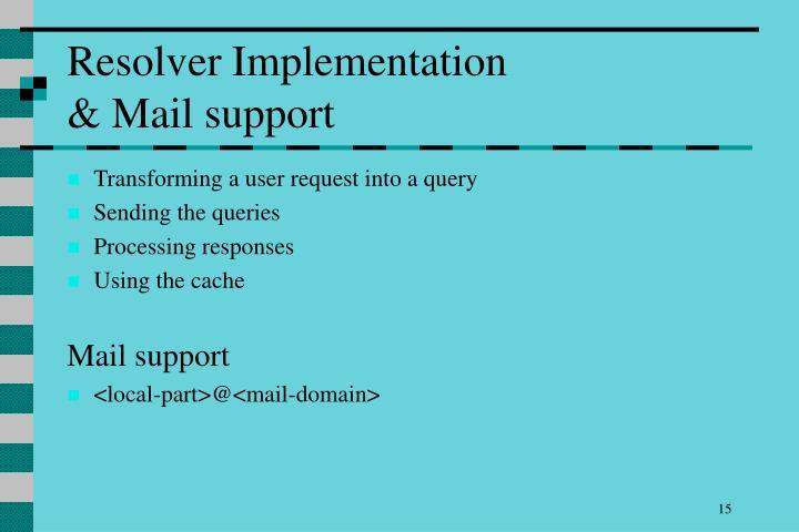 Resolver Implementation
