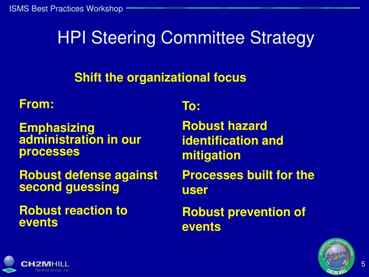 HPI Steering Committee Strategy
