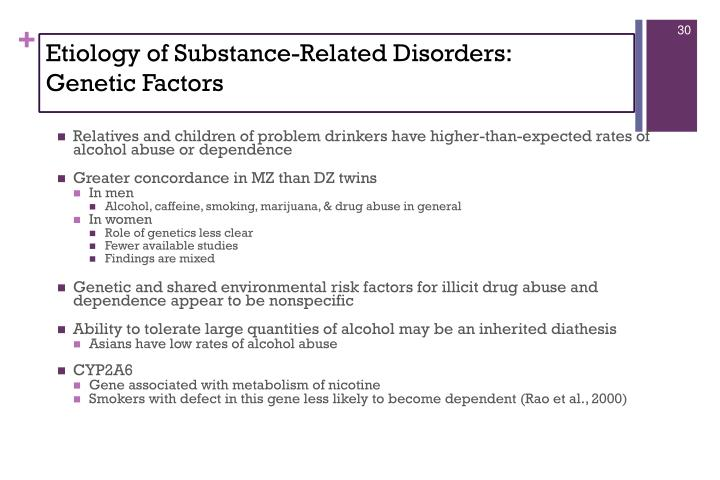 Etiology of Substance-Related Disorders: