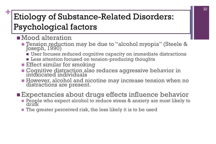 Etiology of Substance-Related Disorders: Psychological factors