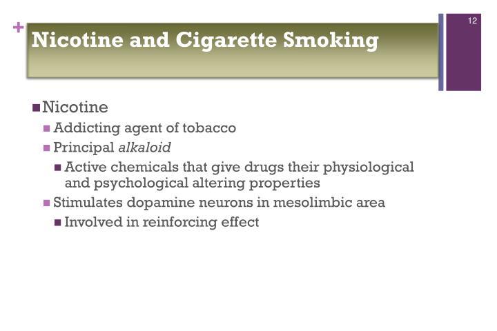 Nicotine and Cigarette Smoking