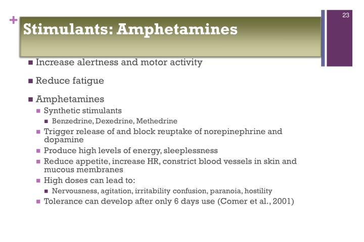 Stimulants: Amphetamines