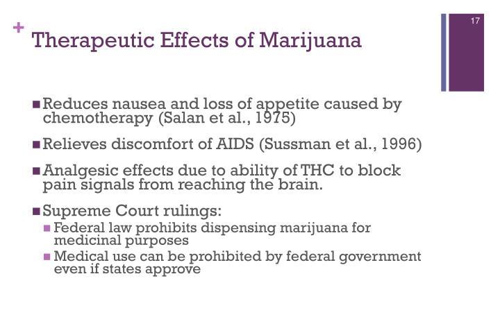 Therapeutic Effects of Marijuana