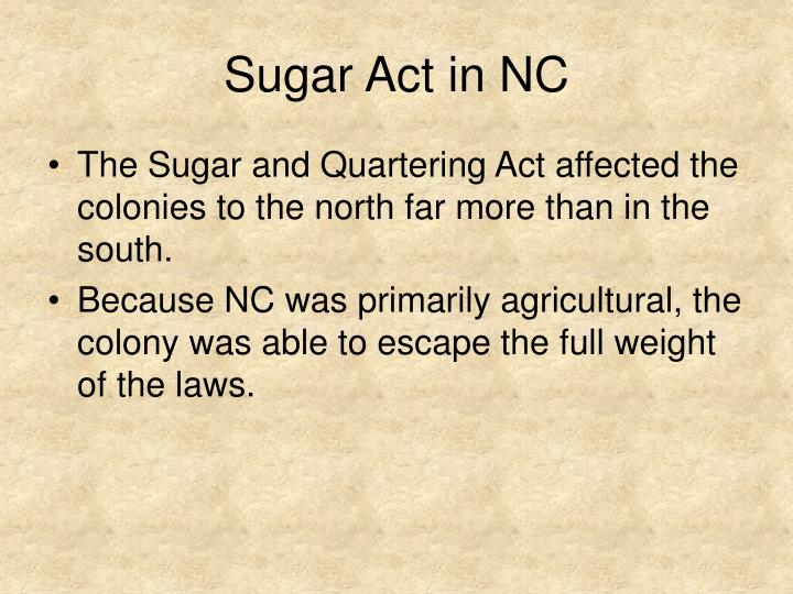 Sugar Act in NC